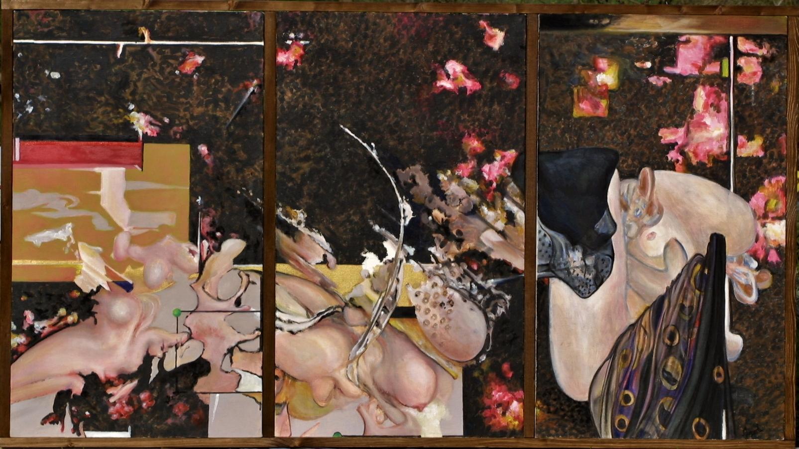 Tryptique Poussière d'étoile (165 x 90) Collection particulière
