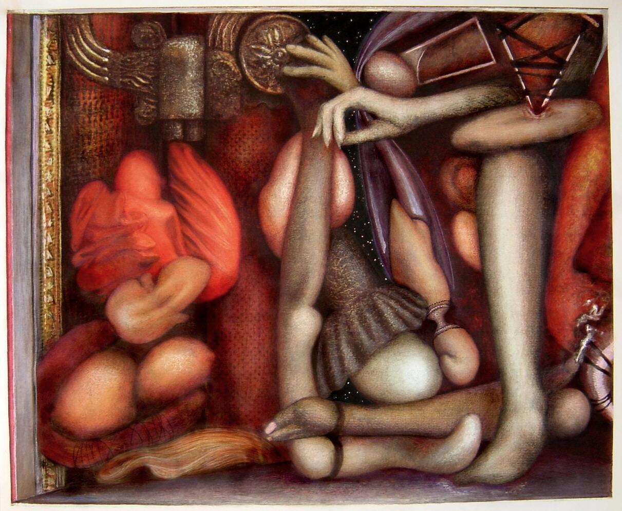 Le trepas d'Elen Elson (52 x 43) Collection particulière